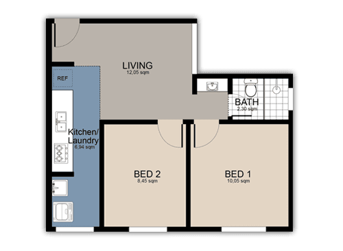 Colour 2D Floor Plan