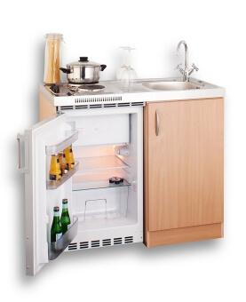 Mebasa Pantryküche 100 cm mit Kühlschrank