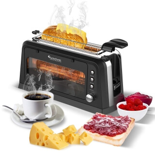 TurboTronic Glas Toaster WT-900