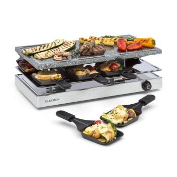Klarstein Gourmet Raclette Grill mit Steinplatte