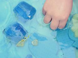 Unterwasserparty-Gefroren