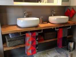 Badezimmer Waschbecken Unterbau Waschbeckenunterschrank ...