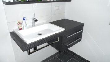 Waschbecken Unterschrank Modern Badezimmer Linie Bad ...