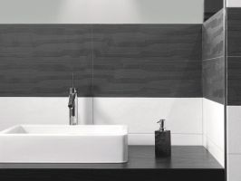 Einfach Badezimmer Anthrazit Weiß Fliesen In Inspiration ...