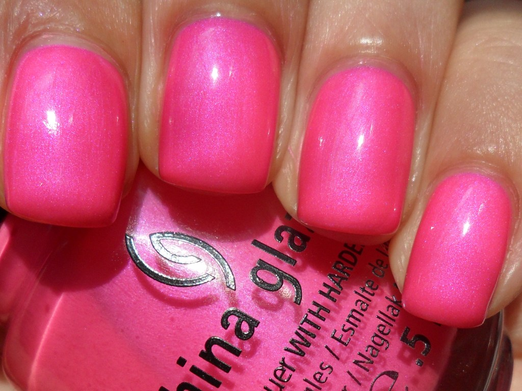 Cool Toned Neon Pink With Fine Violet Shimmer