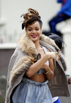Rihanna filming We Found Love video