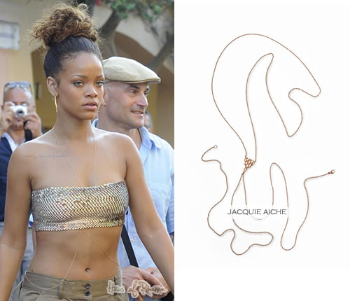 Rihanna in Jacquie Aiche Body Chain