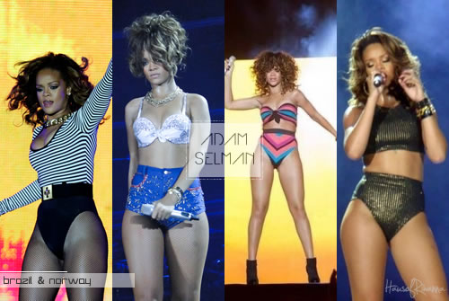 Rihanna in custom designs by Adam Selman