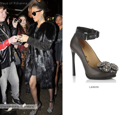 Rihanna in Lanvin Tyrone pumps