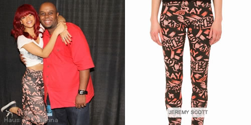 Rihanna in Jeremy Scott X-Ray leggings