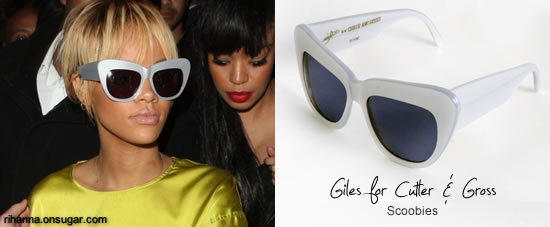Rihanna in Giles x Cutler and Gross sunglasses