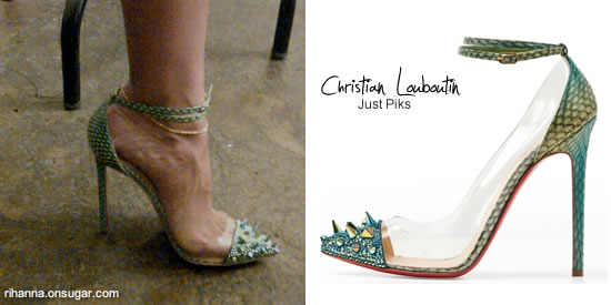 Rihanna in Christan Louboutin Just Piks