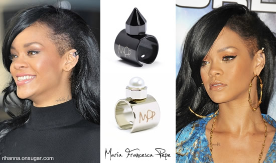 Rihanna in Maria Francesca Pepe ear cuffs