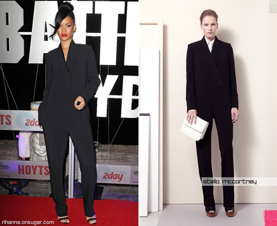Rihanna in Stella McCartney jumpsuit at Australia Battleship premiere
