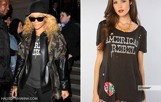 Rihanna In Chaser American Rebel Shirt