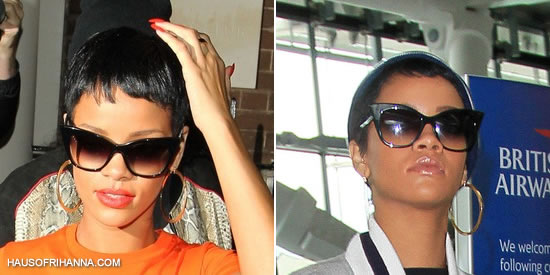 Rihanna In Dita Magnifique Cat Eye Sunglasses