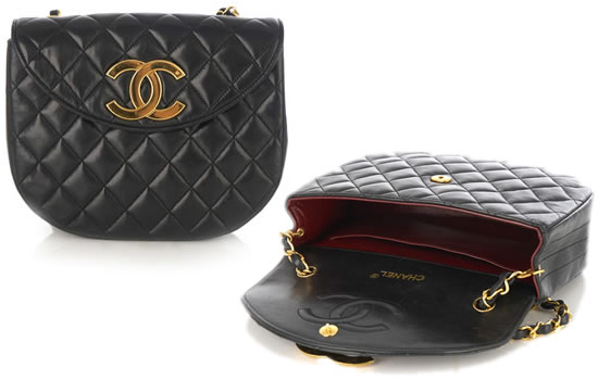Rihanna's vintage Chanel 2.55 oval-shaped quilted handbag from the 1980s