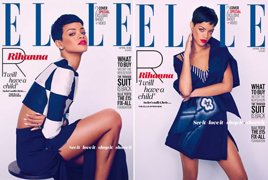 Rihanna on the cover of Elle UK April 2013