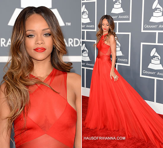 Rihanna At The 55th Annual Grammy Awards Haus Of Rihanna