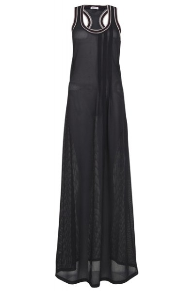 Rihanna for River Island black mesh maxi dress
