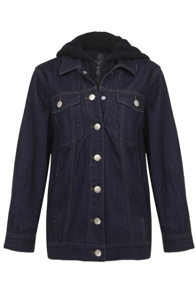 Rihanna for River Island hooded denim jacket