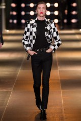 Saint Laurent Spring/Summer 2014 checkered leather jacket