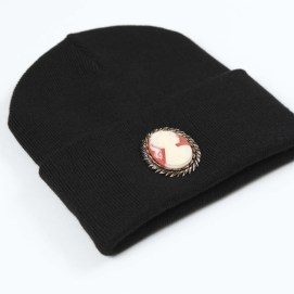 Silver Spoon Attire black cameo beanie