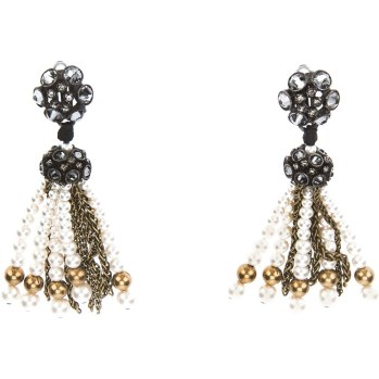 Lanvin Metropolis pearl and crystal earrings