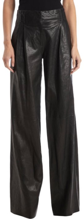 Proenza Schouler leather wide leg pants