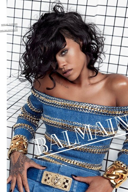 Rihanna for Balmain Spring/Summer 2014