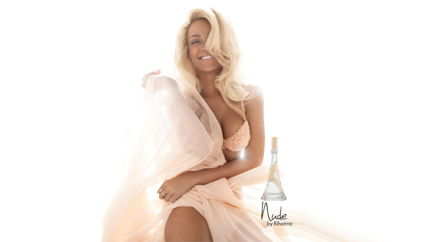 Rihanna Nude perfume promotional advertisement