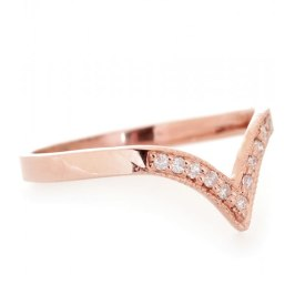 Jacquie Aiche rose gold and diamond V ring