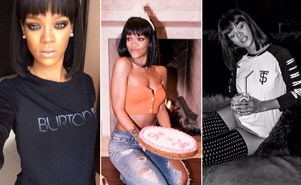 Rihanna wearing Burton long sleeved shirt, Acne distressed jeans, Trapstar raglan