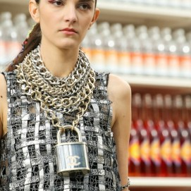 Chanel - Fall 2014 padlock necklace