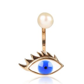 Delfina Delettrez eye and pearl earring