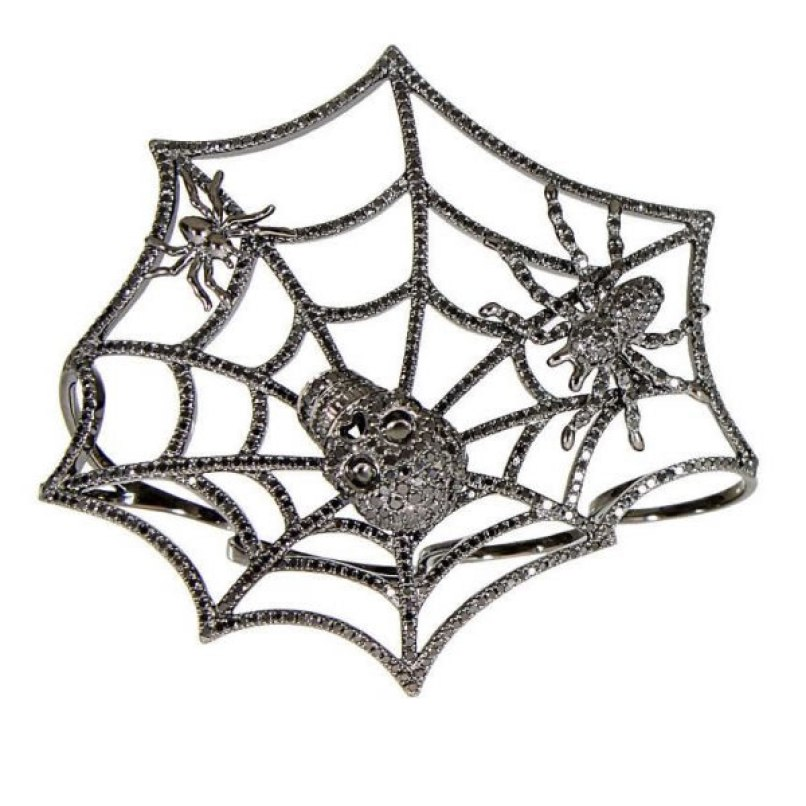 Elise Dray Mitaine spider web ring