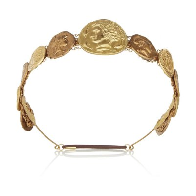 Dolce & Gabbana gold coin headband