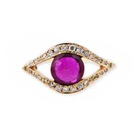 Jacquie Aiche gemstone center eye ring