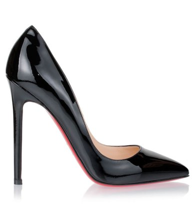 Christian Louboutin Pigalle patent black pumps
