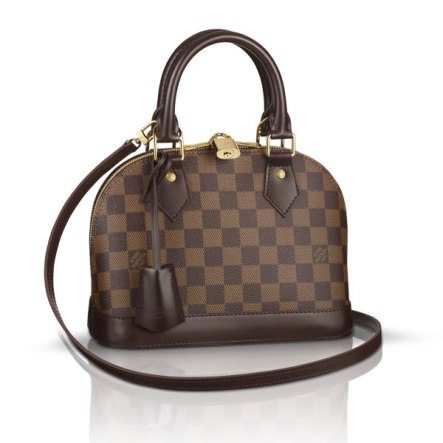 Louis Vuitton Alma BB handbag in Damier Ebène canvas