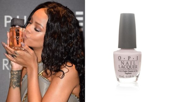 Rihanna wearing OPI Don't Bossa Nova Me Around nail polish