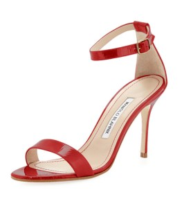 Manolo Blahnik Chaos red patent sandals