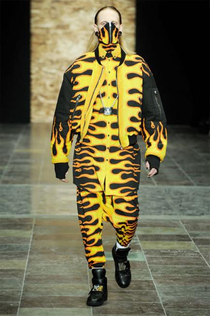Asger Juel Larsen Fall/Winter 2013 flame outfit