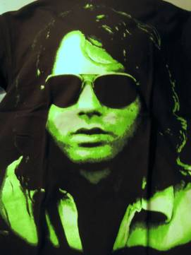 Jim Morrison green-tinted portrait t-shirt