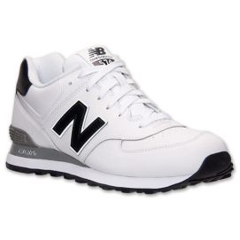 New Balance 574 sneakers in white, black, grey as seen on Rihanna