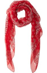 Saint Laurent red bandana-print oversized scarf