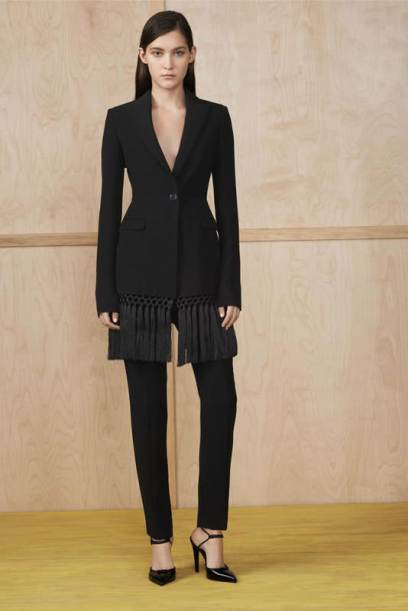 Altuzarra Resort 2015 fringe jacket and black pant