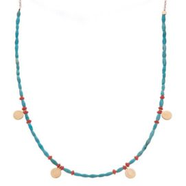 Jacquie Aiche turquoise and yellow gold beaded necklace