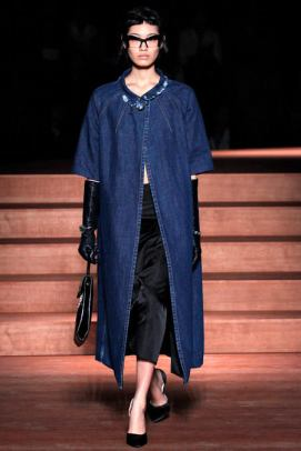 Miu Miu stone washed denim coat