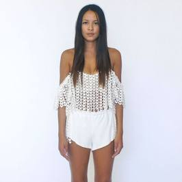 Stone_Cold_Fox Holy Tube off the shoulder top in Chain Lace as seen on Rihanna